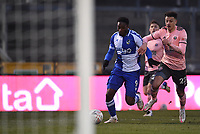 9th January 2021; Memorial Stadium, Bristol, England; English FA Cup Football, Bristol Rovers versus Sheffield United; Brandon Hanlan of Bristol Rovers competes for the ball with Ethan Ampadu of Sheffield United