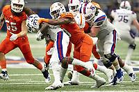 SAN ANTONIO, TX - OCTOBER 13, 2018: The University of Texas at San Antonio Roadrunners fall to the Louisiana Tech University Bulldogs 31-3 at the Alamodome. (Photo by Jeff Huehn)