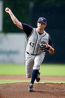 July 30, 2009:  Pitcher Phillip Irwin of the State College Spikes during a game at Russell Diethrick Park in Jamestown, NY.  State College is the NY-Penn League Short-Season Class-A affiliate of the Pittsburgh Pirates.  Photo By Mike Janes/Four Seam Images