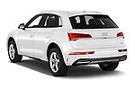 Car pictures of rear three quarter view of 2021 Audi Q5 Premium 5 Door SUV Angular Rear