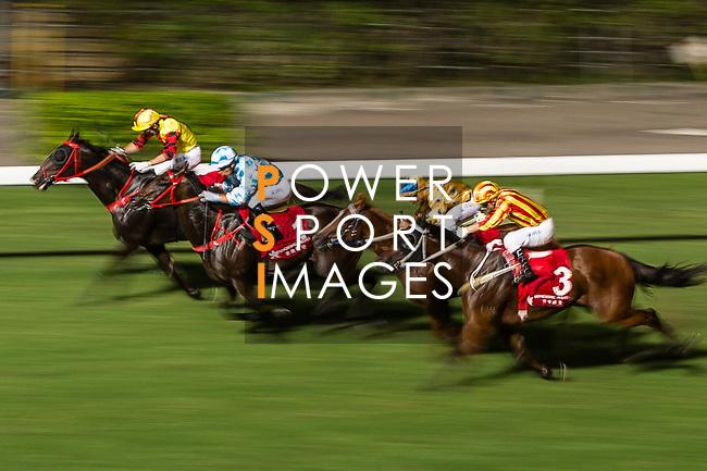 Jockey Joao Moreira  riding #1 Diego Kosta during the race 4 of Hong Kong Racing at Happy Valley Racecourse on September 13, 2017 in Hong Kong, China. Photo by Marcio Rodrigo Machado / Power Sport Images