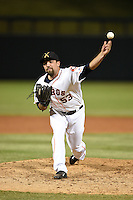 Salt River Rafters pitcher Mitch Lambson (53) during an Arizona Fall League game against the Peoria Javelinas on October 17, 2014 at Salt River Fields at Talking Stick in Scottsdale, Arizona.  The game ended in a 3-3 tie.  (Mike Janes/Four Seam Images)