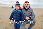 Luke and Mikey Ward enjoying a stroll in Banna beach on Sunday.