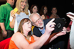 © Joel Goodman - 07973 332324 . 23/07/2016 . Salford , UK . Supporters pose for selfies with Jeremy Corbyn after he launches his campaign to be re-elected Labour Party leader , at the Lowry Theatre at Salford Quays . Photo credit : Joel Goodman