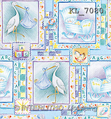 Interlitho, GIFT WRAPS, paintings, stork, cradle, symbols(KL7080,#GP#) everyday