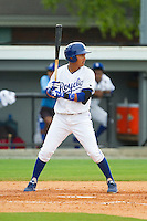 Mauricio Ramos (3) of the Burlington Royals at bat against the Greeneville Astros at Burlington Athletic Park on July 1, 2013 in Burlington, North Carolina.  The Astros defeated the Royals 7-0 in Game One of a doubleheader.  (Brian Westerholt/Four Seam Images)