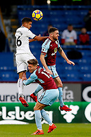 Kyle Naughton of Swansea City and Robbie Brady of Burnley during the Premier League match between Burnley and Swansea City at Turf Moor, Burnley, England, UK. Saturday 18 November 2017