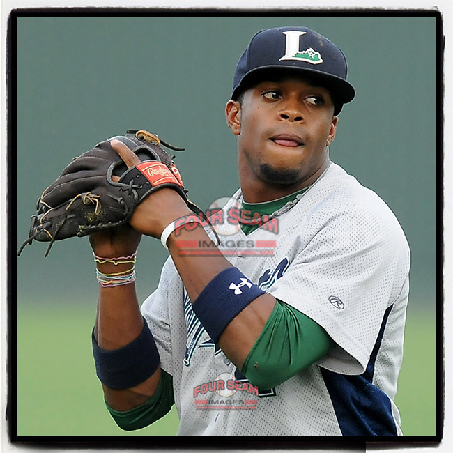#OTD On This Day, May 3, 2012, infielder Delino DeShields, Jr. (4) of the Lexington Legends scored one run in a game against the Greenville Drive at Fluor Field at the West End in Greenville, South Carolina. DeShields Jr. was the No. 8 prospect for the Astros at the time. He is now with the Cleveland Indians. (Tom Priddy/Four Seam Images) #MiLB #OnThisDay #MissingBaseball #nobaseball #stayathome #minorleagues #minorleaguebaseball #Baseball #SallyLeague #AloneTogether