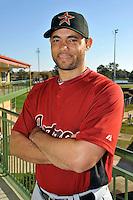 Feb 25, 2010; Kissimmee, FL, USA; The Houston Astros infielder Pedro Feliz (77) during photoday at Osceola County Stadium. Mandatory Credit: Tomasso De Rosa/ Four Seam Images