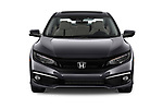 Car photography straight front view of a 2021, 2020, 2019 Honda Civic-Sedan Touring 4 Door Sedan Front View