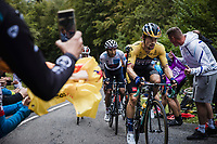 Primoz Roglic (SLV/Team Jumbo Visma) and Egan Bernal (COL/Ineos Grenadiers) up the Col de Marie Blanque<br /> <br /> Stage 9 from Pau to Laruns 153km<br /> 107th Tour de France 2020 (2.UWT)<br /> (the 'postponed edition' held in september)<br /> ©kramon