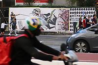 SÃO PAULO, SP, 03.06.2021 - PROTESTO-SP - Protesto do Cartunista Gilmar na Avenida Paulista contra a política econômica e de saúde, adotada pelo governo do Presidente Jair Bolsonaro, nesta quinta-feira, 3. (Foto Charles Sholl/Brazil Photo Press)