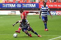 Chuks Aneke of Charlton fouls Reading's Omar Richards during Charlton Athletic vs Reading, Sky Bet EFL Championship Football at The Valley on 11th July 2020