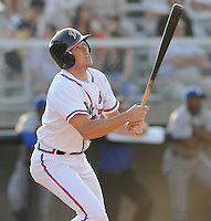 June 19, 2008: Infielder Shayne Moody (10) of the Danville Braves, rookie Appalachian League affiliate of the Atlanta Braves, in a game against the Burlington Royals at Dan Daniel Memorial Park in Danville, Va. Photo by:  Tom Priddy/Four Seam Images