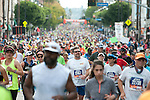 Over 24,000 runners compete in the L.A. Marathon.