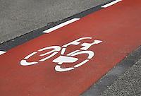 Nederland Amstelveen 2016 03 12.  Rood fietspad in Amstelveen. Foto Berlinda van Dam / Hollandse Hoogte