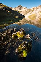 Morning at pristine alpine tarns, Nelson Lake National Park, South Island, New Zealand, NZ