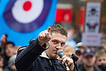 © Joel Goodman - 07973 332324 - all rights reserved . 05/02/2011 . Luton , UK . EDL leader Stephen Yaxley-Lennon ( aka Tommy Robinson ) speaks at the demonstration . The English Defence League ( EDL ) hold a march and demonstration against Islamic fundamentalism in Luton . Photo credit : Joel Goodman