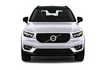 Car photography straight front view of a 2019 Volvo XC40 R-Design 5 Door SUV Front View