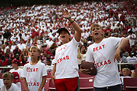 Arkansas fans cheer, Saturday, September 11, 2021 during a football game at Reynolds Razorback Stadium in Fayetteville. Check out nwaonline.com/210912Daily/ for today's photo gallery. <br /> (NWA Democrat-Gazette/Charlie Kaijo)