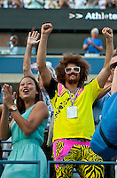 "NEW YORK, NY - SEPTEMBER 7:: Stefan 'RedFoo"" Gordy from the musical duo LMFAO attends Day 12 of the 2012 U.S. Open Tennis Championships at the USTA Billie Jean King National Tennis Center in Flushing, Queens, New York, USA. September 7, 2012. © mpi105/MediaPunch Inc. /NortePhoto.com<br />