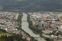Blick auf Innsbruck - Innsbruck 03.06.2021: Alpenzoo