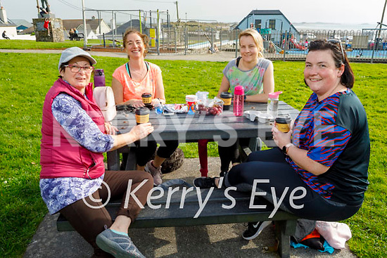 Enjoying a picnic in Ballyheigue on Thursday, l to r:  Rosa Pastor, Sinead McDonnell, Migda Grzyvowska and Eileen Gleeson.