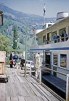 People boarding ferry, Switzerland