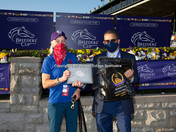 November 6, 2020: Best Turned Out horse, Juvenile Fillies Turf on Breeders' Cup Championship Friday at Keeneland on November 6, 2020: in Lexington, Kentucky. Bill Denver/Breeders' Cup/Eclipse Sportswire/CSM