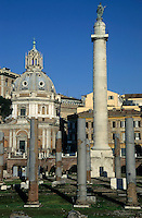 Ruins from the Roman Forum, Rome, Italy.