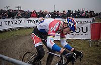Mathieu Van der Poel (NED/Beobank-Corendon)<br /> <br /> men's elite race<br /> CX Superprestige Noordzeecross <br /> Middelkerke / Belgium 2017