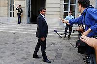 Manuel Vall (Ministre de l intérieur) .Parigi 22/8/2012.Consiglio dei Ministri.Foto Insidefoto / Gwendoline Le Goff / Panoramic