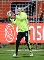 20160302 – ROTTERDAM ,  NEDERLAND :  Sweden's Hilda Carlen pictured during the Olympic Qualification Tournament  soccer game between the women teams of Norway and Sweden, The first game for both teams in the Olympic Qualification Tournament for the Olympic games in Rio de Janeiro - Brasil, Wednesday 2 March 2016 at Stadion Woudestein in Rotterdam , Netherlands  PHOTO DIRK VUYLSTEKE
