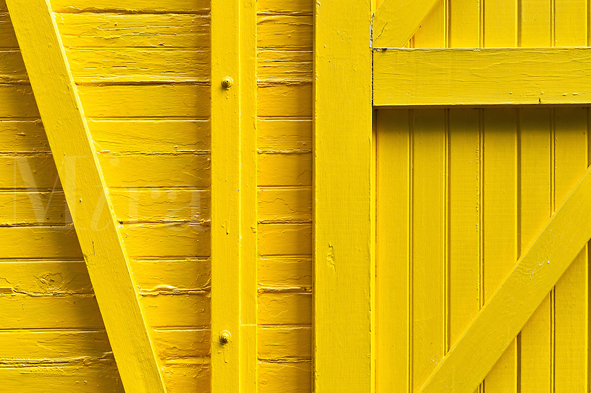 Detail of yellow train car.