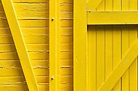 Detail of yellow train car.
