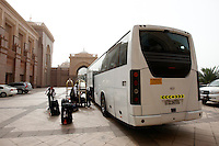 Photo: Richard Lane/Richard Lane Photography. London Wasps in Abu Dhabi for their LV= Cup game against Harlequins on 30th January 2011. 01/02/2011. Wasps leave the Emirates Palace Hotel by coach to the airport.