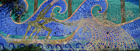 Europe/France/Provence-Alpes-Côte d'Azur/13/Bouches-du-Rhône/Marseille : Estaque - mur peint
