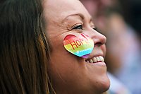 Thousands of people take part in this year's Pride Parade in the centre of Cardiff, Wales, UK. Sayurday 26 August 2017