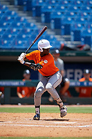 Eldridge Armstrong (16) of Oaks Christian High School in Simi Valley, CA during the Perfect Game National Showcase at Hoover Metropolitan Stadium on June 19, 2020 in Hoover, Alabama. (Mike Janes/Four Seam Images)