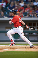 Daniel Nichols (33) of the Georgia Bulldogs follows through on his swing against the Charlotte 49ers at BB&T Ballpark on March 8, 2016 in Charlotte, North Carolina. The 49ers defeated the Bulldogs 15-4. (Brian Westerholt/Four Seam Images)
