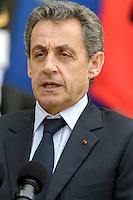 Paris (75),Le President de la Republique, Franeois HOLLANDE, recoit samedi 25 juin 2016 les representants des partis politiques francais au Palais de l Elysee. Les Republicains. Nicolas SARKOZY