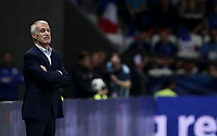 International friendly football match France vs Italy, Allianz Riviera, Nice, France, June 1, 2018. <br /> France's national team coach Didier Deschamps looks on during the international friendly football match between France and Italy at the Allianz Riviera in Nice on June 1, 2018.<br /> UPDATE IMAGES PRESS/Isabella Bonotto