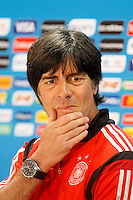 Germany manager Joachim Low looks dejected during the press conference
