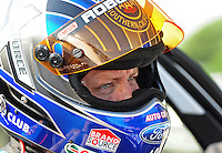 Jul, 8, 2011; Joliet, IL, USA: NHRA funny car driver Robert Hight during qualifying for the Route 66 Nationals at Route 66 Raceway. Mandatory Credit: Mark J. Rebilas-
