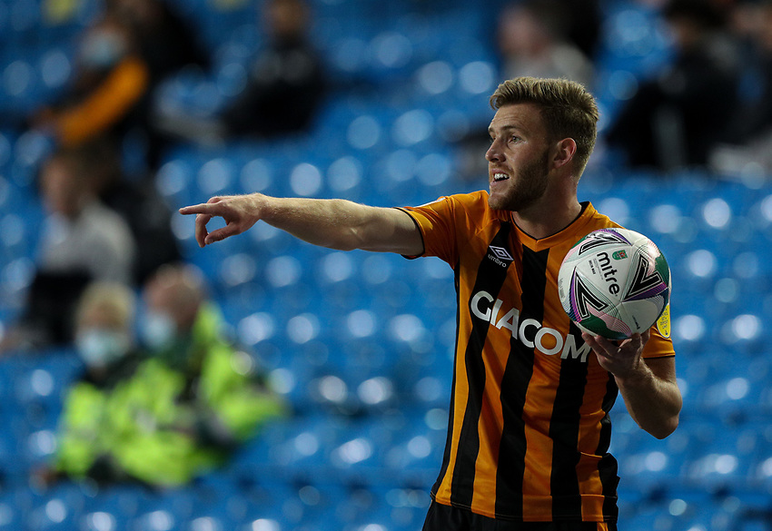 Hull City's Callum Elder<br /> <br /> Photographer Alex Dodd/CameraSport<br /> <br /> Carabao Cup Second Round Northern Section - Leeds United v Hull City -  Wednesday 16th September 2020 - Elland Road - Leeds<br />  <br /> World Copyright © 2020 CameraSport. All rights reserved. 43 Linden Ave. Countesthorpe. Leicester. England. LE8 5PG - Tel: +44 (0) 116 277 4147 - admin@camerasport.com - www.camerasport.com