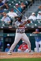 Pawtucket Red Sox Josh Ockimey (30) bats during an International League game against the Buffalo Bisons on August 25, 2019 at Sahlen Field in Buffalo, New York.  Buffalo defeated Pawtucket 5-4 in 11 innings.  (Mike Janes/Four Seam Images)