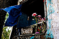 The bus in which Gilda was travelling when she crashed became the place where prayers, promises and wishes to be granted rest. The shrine.