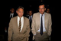 John Ciaccia  et Robert Bourassa<br /> <br /> (PLQ)  entre 1985 et 1995<br /> <br /> PHOTO :  Pierre Roussel<br />  - Agence Quebec Presse
