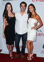 SANTA MONICA, CA, USA - JUNE 11: Melissa Haro, Gilles Marini, Katie Cleary at the Pathway To The Cures For Breast Cancer: A Fundraiser Benefiting Susan G. Komen held at the Barker Hangar on June 11, 2014 in Santa Monica, California, United States. (Photo by Xavier Collin/Celebrity Monitor)