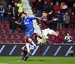 29.02.2020 Hearts v Rangers: Connor Goldson and Craig Halkett
